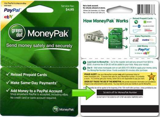 Add Funds to your SINCats.com account by Green Dot Money Pak